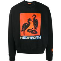 Heron Preston Camiseta Com Estampa Frontal - Preto