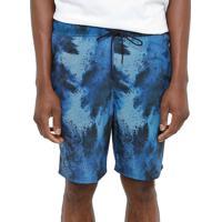 Shorts Elastano Hurley Burst Masculina - Masculino-Azul+Preto