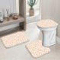 Jogo Tapetes Para Banheiro Geometric Clean Único