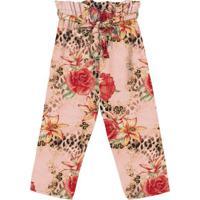 Calã§A Clochard Floral- Rosa Claro & Vermelha- Teen