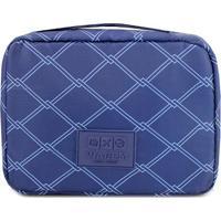 Nécessaire De Viagem Geométrica- Azul Marinho & Azuljacki Design