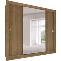 Guarda-Roupa Casal Com Espelho Bastos 4 Pt 4 Gv Rustic