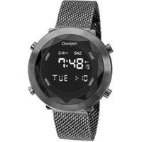 Relógio Champion Digital Ch48028C Feminino - Feminino-Chumbo
