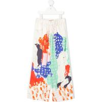 Marni Kids Pull-On Wide-Leg Trousers - Branco