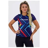 Camiseta Head Line Cross Feminina Marinho