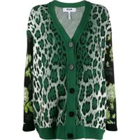Msgm Cardigan Oversized - Verde