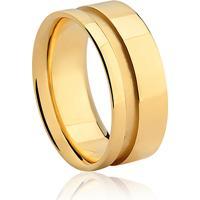 Aliança Noivo 8 Mm Ouro Amarelo