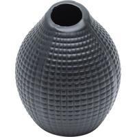 Vaso Decorativo Com Relevo- Preto- 13Xã˜11Cm- Rojrojemac