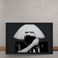 Quadro Decorativo Lady Gaga Horizontal 25X35