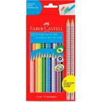 Lápis Preto - Nº 2B - Ecolápis Color Grip - 12 Unidades - Faber-Castell