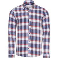 fa45e671f3 Camisa Masculina Xadrez Diagonal - Azul