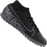 Chuteira Society Nike Mercurial Superfly 7 Club Tf - Adulto - Preto/Cinza