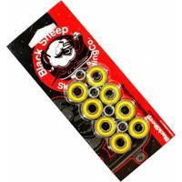 Kit Com 8 Rolamentos De Skate E 4 Espaçadores Black Sheep Abec 13 - Unissex