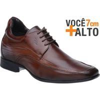 Sapato Rafarillo Linha Alth Você + Alto 7Cm Couro Com Cadarço - Masculino-Marrom