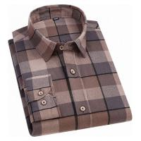 Camisa Xadrez Gardner Flanelada Masculina - Marrom