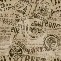 Papel De Parede Adesivo Emblemas Militares Grunge (0,58M X 2,50M)