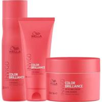 Kit Invigo Color Brilliance Wella Shampooo + Condicionador + Máscara - Unissex-Incolor