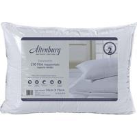 Travesseiro Suporte Médio Em Cetim- Branco- 70X50Cm