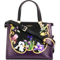 Tosca Blu Bolsa Tote Iris Com Estampa Floral - Roxo