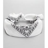 Bandana Estampada Paisley   Accessories   Branco   U