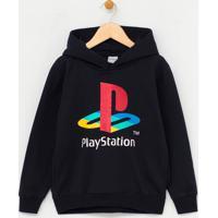 Blusão Infantil Moletom Com Estampa Playstation - Tam 5 A 14