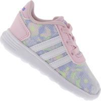 Tênis Para Bebê Adidas Lite Racer - Infantil - Branco/Rosa
