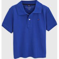 Camisa Polo Tommy Hilfiger Kids Infantil Logo Bordado Azul - Azul - Menino - Algodã£O - Dafiti