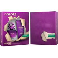 Kit Coffret Benetton Colors Purple Feminino Eau De Toilette 80Ml + Body Lotion 75Ml