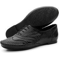 Sapato Oxford Casual Conforto Verniz 15360 Preto