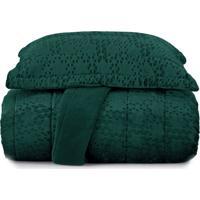 Jogo De Colcha Casal Blend Elegance Vogue Prisma - Verde Verde - Tricae