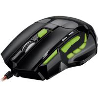 Mouse Gamer Multilaser Mo208 2400 Dpi Led Usb Preto E Verde
