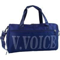 Bolsa De Viagem Nylon Mala De Mão Média Unissex Espaçosa Azul