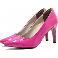 Scarpin Verniz Bico Fino Fandarello Rosa Pink - Rosa - Feminino - Dafiti