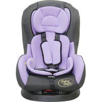Cadeira Para Auto Lilás E Cinza - Crianças De 0 A 18Kg, 3 Posições.