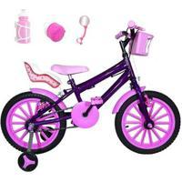 Bicicleta Infantil Aro 16 Com Cadeirinha Para Boneca - Feminino