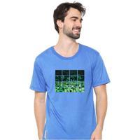 Camiseta Masculina Sandro Clothing Nature Azul Blu