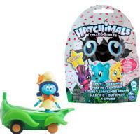Kit Veículo Com Mini Figura - Smurfs - Smurflily E Leafboard E Figura Sortida Hatchimals - Colleggtibles - Sunny