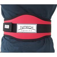 Cinto Para Musculação Reforçado Com Velcro Simples - Nitech Sports - Unissex