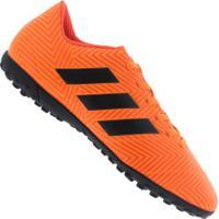 Chuteira Society Adidas Nemeziz Tango 18.4 Tf - Adulto - Laranja Preto 8d9a360af05c2