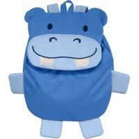 Mochila Green Sprouts Safári Hipopótamo Azul