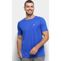 Camiseta Fila Jacquard Stripes Masculina - Masculino-Azul