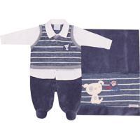Saída Maternidade Em Plush Miniclo Little Coala Marinho