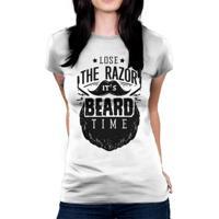 Camiseta Baby Look Hshop Razor Branco