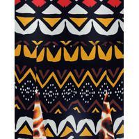 Saia Cintura Alta Estampada Masai - Lez A Lez