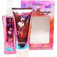 Kit Loção Corporal + Body Splash Kit Delikad Fantasy Escape Flamingo Dance - Unissex-Incolor