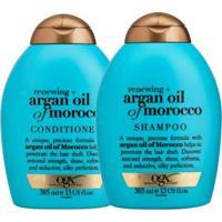 Kit Shampoo + Condicionadro Ogx Argan Oil Of Morocco 385Ml - Unissex-Incolor