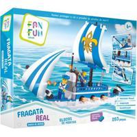 Blocos De Montar - Fragata Real - Barco De Defesa - Fanfun