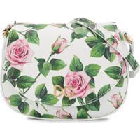 Dolce & Gabbana Kids Bolsa Tiracolo Com Estampa Tropical Rose - Branco