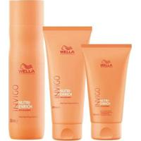 Kit Shampoo + Condicionador + Creme Wella Professionals Invigo Nutri-Enrich - Unissex-Incolor