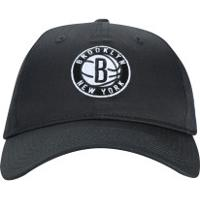 Boné Aba Curva New Era 920 Brooklyn Nets - Strapback - Adulto - Cinza Escuro